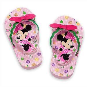 💕Disney Store Minnie Mouse Flip Flop Sandals 7/8